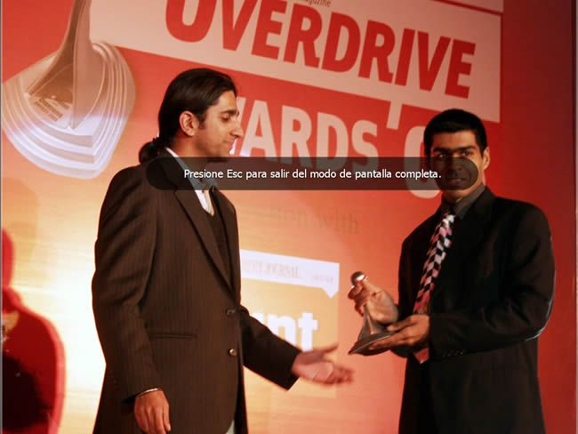 En el evento de la OverDrive Awards