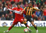 Hull City ante el Middlesburg, Abril 2009